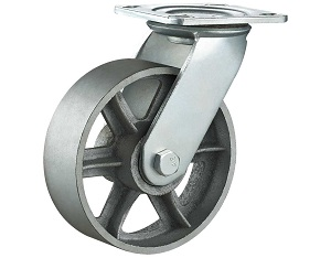 Heavy Duty Casters with Cast Iron Wheel Swivel Plate